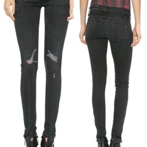 rag & bone washed black skinny jeans